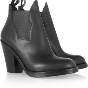 Acne Star black leather ankle boot